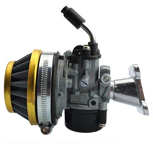GOOFIT Tuning Vergaser mit Luftfilter für 2 Stroke 37cc 39cc Wassergekühlt MTA4 Pocket Bike