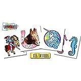 Tatuajes Temporales para niños - Pony Pack x16 Tattoos - Calcomanias fabricadas en España - Tattoos para niños