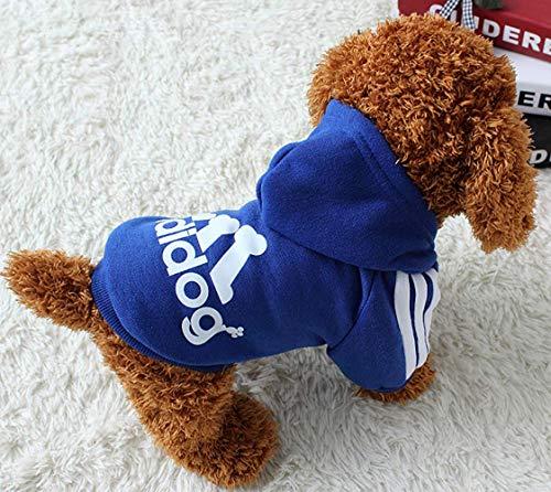 LILITRADE Adidog Puppy Clothes Grundlegende Hundeshirt Warme weiche Baumwolle Cute Dog Jumpsuit Puppy Outfit für Hunde Katzen Pullover Outwear - Cute Dog Kostüm