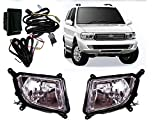 #4: Auto Pearl - Premium Quality Car Fog Lamp Lights with Wiring kit and Switch For - Tata Safari Dicor (Without Plastic Sash Cover)