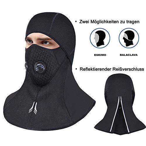 Sturmhaube Motorrad Winddicht Balaclava Winter Gesichtsmaske mit Staubfilter, Skimaske Motorradmaske, Fahrrad Maske Wasserdicht, atmungsaktive