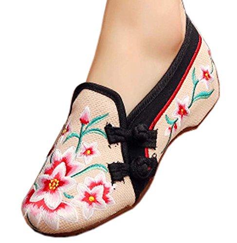 Vintage Design chinesische Schuhe bestickt Wohnungen Cheongsam Schuhe, # 01 (Schuhe Designer Rabatt Kinder)