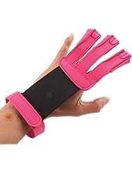 REKA–Kolumban caza 3dedos guante de tiro con arco protector gloves-rosy