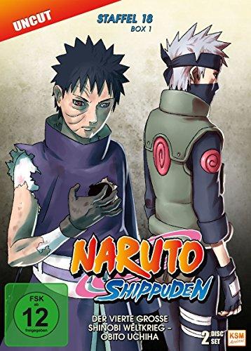 Naruto Shippuden - Der vierte große Shinobi Weltkrieg - Obito Uchiha - Staffel 18.1: Episode 593-602 - uncut [2 DVDs] (Naruto Shippuden Anime)