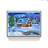 Riou DIY 5D Diamant Painting voll,Stickerei Malerei Diamant Weihnachten Bild Muster Crystal Strass Stickerei Bilder Kunst Handwerk für Home Wand Decor gemälde Kreuzstich (Mehrfarbig I, 30 * 40cm)