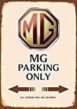 MG Parking only blechschild auto motorrad park schild