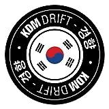 KDM Drift Circle Car Sticker for Korean Kia Hyundai Decal Vinyl For Hyundai Kia