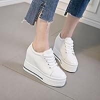 KHSKX-Coreano Marea Tela Scarpe Bianche Scarpe Casual Scarpe Scarpe Con La Zeppa E Scarpe. 35 Black