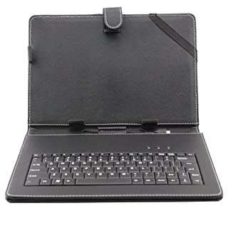 Afunta(tm) 10.1 inch Universal Tablet PC Leather Case with Keyboard/Holder for 10