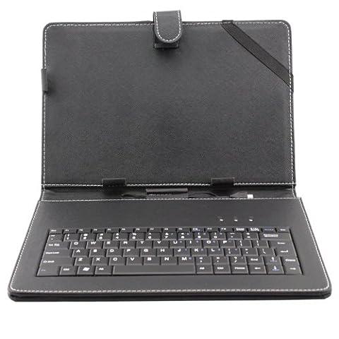 AFUNTA Étui de Protection en Cuir pour Tablette Ordinateur Portable avec Clavier, Housse pour 10