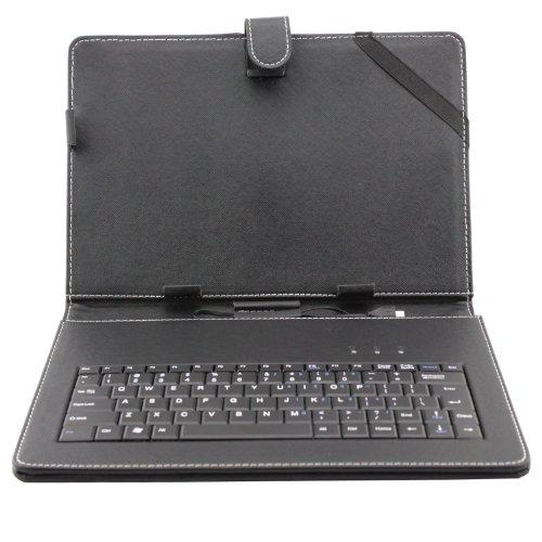 """tastiera per tablet 10 pollici AFUNTA Cassa del Cuoio del PC da 10.1 Pollici Universale Tablet con la Tastiera/Supporto per 10""""Tablet PC (con la Micro USB Tastiera)"""