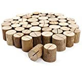50 Pieces New Wooden Wedding Table Number Stand Place Name Memo Card Holder
