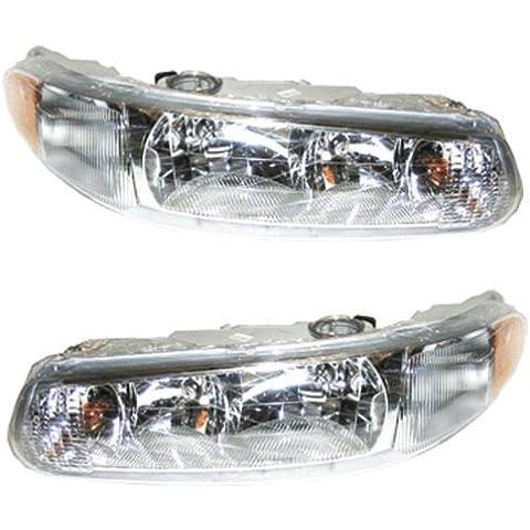 Questo è un nuovo Aftermarket lato passeggero&-Coppia di montaggio per Buick Century A 1997-2005 1997-2004 Buick Regal DOT& SAE Approved OE-composito combinazione Lenti in plastica trasparente con lampadine da& Discount-Alternatore