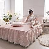 MZ Sommer kühlen Eis Seide Schlafmatte, Drei Sätze von Seide Seide Matte Suite Einzigen Doppel Klimaanlage Weichen Sitz (Farbe : Pink, größe : 1.8 Meters Bed)