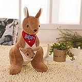 """rionel® Cute Peluche suave corto Australia canguro muñeca de peluche (rojo) 19.5"""""""