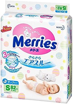 Pañales japoneses Merries S (4-8kg.)// Japanese diapers Merries S (4-8kg.)// Японские подгузники Merries S (4-8kg.)