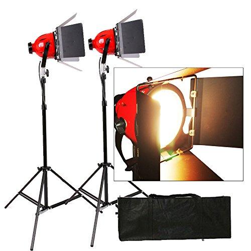 Kit 2X Tungsten 800W Redhead Rothaarig Video Studio Light Focus Earthed Pro - Tungsten Light Kit