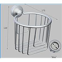 XXTT-Cestello in alluminio spazio carta igienica, cestino di immagazzinaggio resistente all'olio, carta igienica di Cestino bagno, accessori bagno, ad alta temperatura resistente, durevole , 8010-1 deluxe