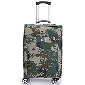 """Ouyang1923458859 boîte universelle en laiton d'Oxford roule 20.24"""" valise de mot de passe de camouflage d'armée de bagage"""