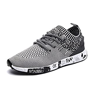Turnschuhe, Gracosy Herren Laufschuhe Sneaker Freizeitschuhe Sport Fitness Outdoor Schuhe Grau 44