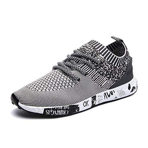Turnschuhe, Gracosy Herren Laufschuhe Sneaker Freizeitschuhe Sport Fitness Outdoor Schuhe Grau 45 (Mesh-schuhe Grau)