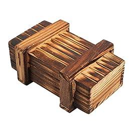 Abboard Scatola Puzzle in Legno Giocattoli di Sviluppo Intellegence rompicapo Magic Box Giocattolo R