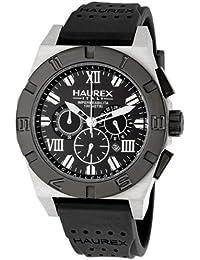 0fc8269a2412 Haurex Italy Challenger 2 Chronograph Black Dial Watch  3D350UNN - Reloj de  caballero de cuarzo