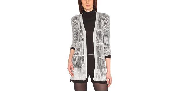 fda91534a952 MOLLY BRACKEN - Gilet - Femme - Argenté (Argent) - TU  Amazon.fr  Vêtements  et accessoires