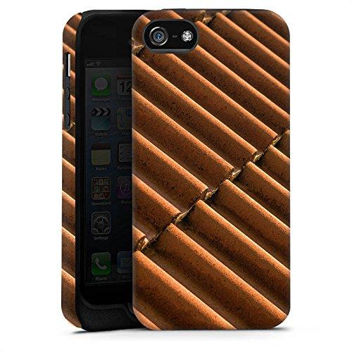 Apple iPhone X Silikon Hülle Case Schutzhülle Dachziegel Ziegel Look Muster Tough Case matt