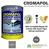 Cromapol | Acrylic Roof Coat | Waterproofing Roof Sealant | Three Sizes |