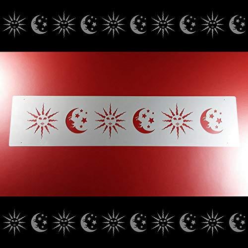 Schablone Bordüre Sonne Mond Sterne Himmel B1B28