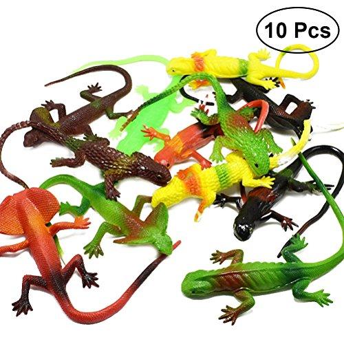 TOYMYTOY 10 stücke Kunststoff Eidechse Party Realistische Tiere Figur Spielzeug Kinder Früherziehung Spielzeug (Sortiert)