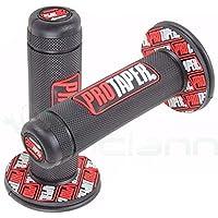 Pro Taper Paire depoignées de guidon pour motocross, Pit Bike, motard, 22mm, anti-dérapantes, rouges