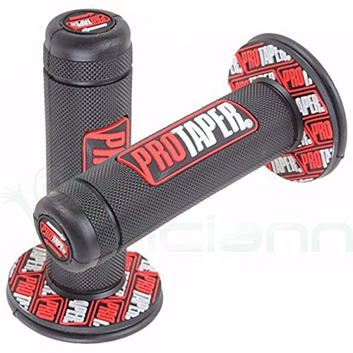2x Dial Pro Taper manillar Motocross Pit Bike Motard puños 7/8Grip Rojo