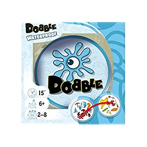 Asmodee ASMD0034 Dobble Waterproof, Kartenspiel, Deutsch