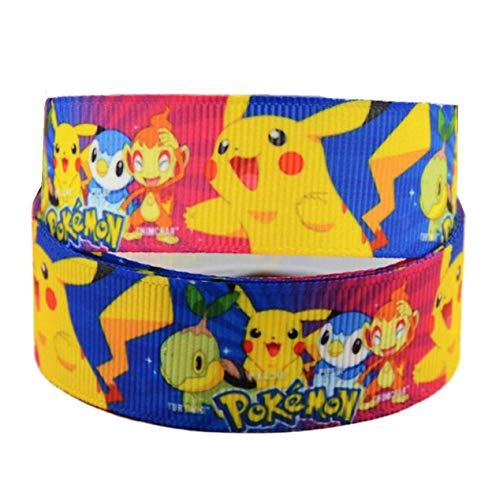 Pimp My Shoes Blaues Pokemon Go Dekoband für Geburtstagskuchen, 2 m x 22 mm breit, zum Dekorieren von Geschenken, Schleifen oder Verpacken von Taschen, Boxen, Ballon, Schnur, Kunst, Bastelband