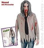 narrenwelt Zombie camicia con cravatta 1504 PB Halloween Horror costume per adulti L XXL Unisex