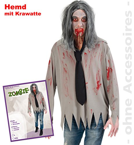 md mit Krawatte 1504 PB Halloween Horror Kostüm für Erwachsene L Unisex ()