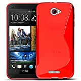 HTC One S Silikon Hülle Case in Rot Cover One S