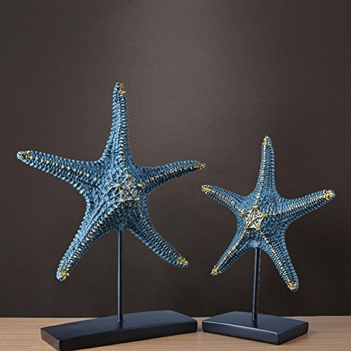 Moderne einfache blaue Seesterne Wohnzimmer Restaurant Dekorationen Geschenke ein Paar