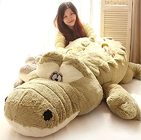 Halloween Christmas Present Giant Huge Cute Animals Doll Soft Fluffy Plush Crocodile Toy 110cm,By