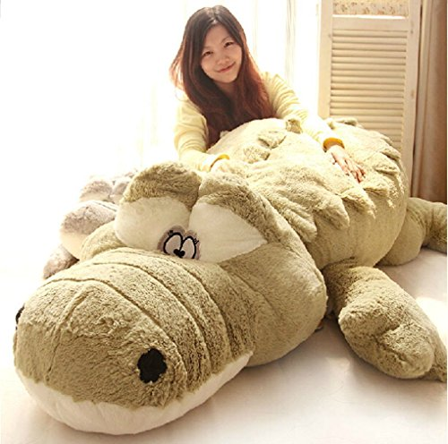 Halloween Christmas Present Giant Huge Cute Animals Doll Soft Fluffy Plush Crocodile Toy 100cm,By Annco