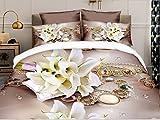 Belomoda 5D Floral Rose Print Single Bed...