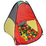 LittleTom Bällebad Spielzelt 90x90x100 cm Popup Baby Spielhaus Kinder-Zelt Bunt