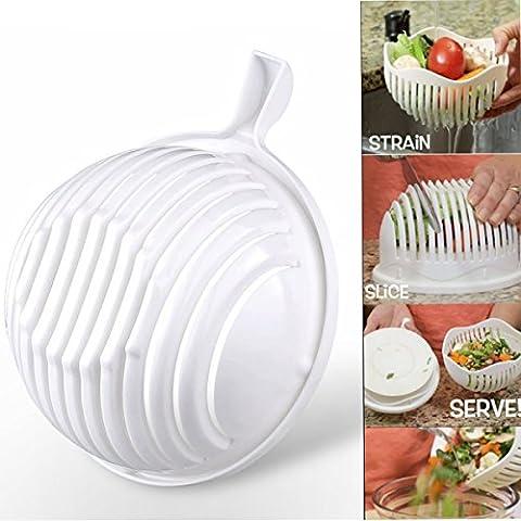 60Seconds Salad Bowl Cutter, kyerivs Vegetable Salad Cutter Maker Bowl–Make your Healthy Fresh Salad dans Seconds