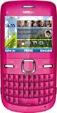 Nokia C3-00 Smartphone (6.1 cm (2.4 Zoll) Display, Bluetooth, 2 Megapixel Kamera, QWERTZ-Tastatur) pink