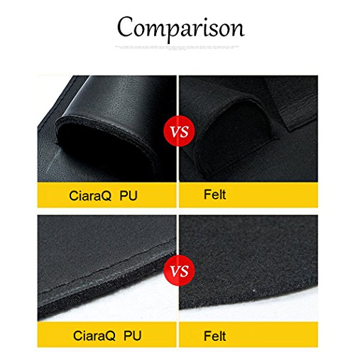 Car Seat Organiser, CiaraQ Multifunctional Waterproof Car Back Seat Organizer Carry iPad, Phone, Cup, Umbrella, Tissue / Seat Cover with 6 Pockets for Kids (Black)