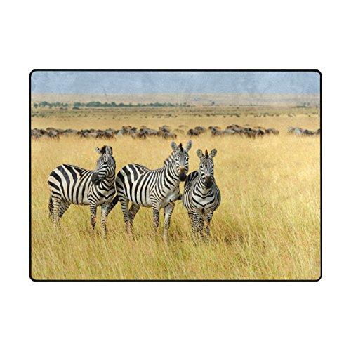 My Daily Zebra in Afrika Bereich Teppich 4'x 5' 7,6cm Wohnzimmer Schlafzimmer Küche Dekorativ Leichtem Schaumstoff Teppich, Bedruckt 4'10