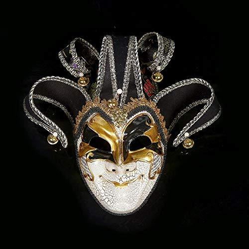 WASENJ Halloween-Maskensprühfarbe gemalt handgemachte Riss Maskerade Maske venezianische Dekoration, - Sprühfarbe Hunde Kostüm