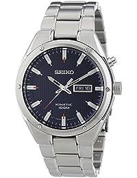 Seiko Herren-Armbanduhr XL Kinetic Chronograph Quarz Edelstahl SMY149P1